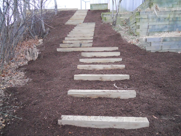 Build Landscape Timber Steps : Anyway for you here landscaping timber