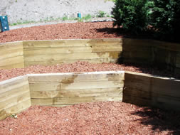 Landscape Timber Wall